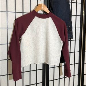 Divided cropped baseball T  Size XS (runs big)